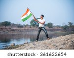 Indian Young Man Holding And...