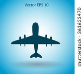 flat plane icon. vector | Shutterstock .eps vector #361623470