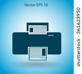 printer vector icon | Shutterstock .eps vector #361623950