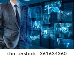 businessman transforming to 3d... | Shutterstock . vector #361634360