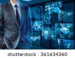 businessman transforming to 3d... | Shutterstock . vector #361634360