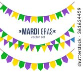 vector mardi gras traditional... | Shutterstock .eps vector #361634459