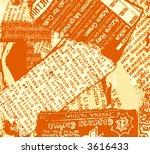 grunge newspaper. easy to... | Shutterstock .eps vector #3616433