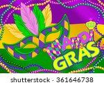 mardi gras mask design... | Shutterstock .eps vector #361646738