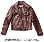 black leather jacket isolated... | Shutterstock . vector #361646963