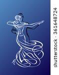 dancing couple | Shutterstock .eps vector #361648724