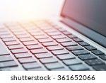 computer laptop close up.... | Shutterstock . vector #361652066