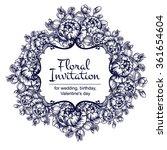 vintage delicate invitation... | Shutterstock .eps vector #361654604