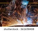 welder industrial automotive... | Shutterstock . vector #361658408