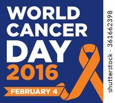 world cancer day vector template | Shutterstock .eps vector #361662398