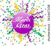 mardi gras sign with confetti... | Shutterstock .eps vector #361667108