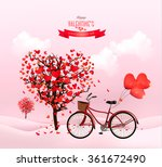 valentine's day background with ... | Shutterstock .eps vector #361672490