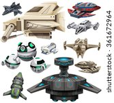 Different Design Of Spaceships...