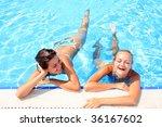 two pretty woman enjoying a... | Shutterstock . vector #36167602