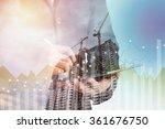 double exposure of success... | Shutterstock . vector #361676750