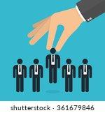 choosing the best candidate... | Shutterstock .eps vector #361679846