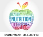nutrition apple word cloud ... | Shutterstock .eps vector #361680143