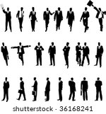 businessmen in various... | Shutterstock .eps vector #36168241