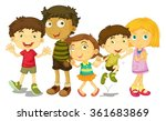 boys and girls standing in... | Shutterstock .eps vector #361683869