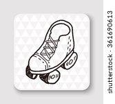 doodle roller skates | Shutterstock .eps vector #361690613