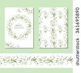 floral spring templates with... | Shutterstock .eps vector #361695890