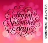 vector valentine's day... | Shutterstock .eps vector #361699514