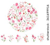 stylized round template with... | Shutterstock .eps vector #361699916