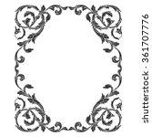 vintage baroque frame scroll... | Shutterstock . vector #361707776
