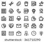 office line icon set. pixel... | Shutterstock .eps vector #361710290