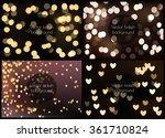 set of 4 photo realistic bokeh...   Shutterstock .eps vector #361710824