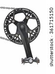 chainwheel with pedal  | Shutterstock . vector #361715150
