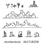 cute house draw | Shutterstock .eps vector #361718258