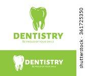 vector dental logotype. tooth... | Shutterstock .eps vector #361725350