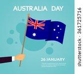 hand hold australia flag... | Shutterstock .eps vector #361725716