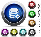 set of round glossy database...