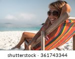 young lady relaxing in the... | Shutterstock . vector #361743344