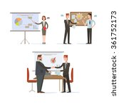 businessman presentations and... | Shutterstock .eps vector #361752173