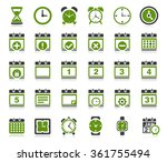 time and date icons | Shutterstock . vector #361755494
