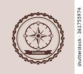 compass emblem design  | Shutterstock .eps vector #361755974
