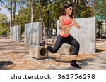 young asian fitness woman doing ... | Shutterstock . vector #361756298