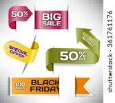 set vector tag big sale paper... | Shutterstock .eps vector #361761176