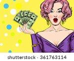 Pop Art Girl With The Money.po...