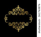 floral label | Shutterstock .eps vector #361763876
