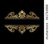 floral label   Shutterstock .eps vector #361763888