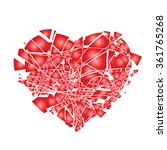 valentines day broken heart | Shutterstock .eps vector #361765268