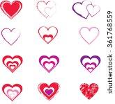 vector hearts | Shutterstock .eps vector #361768559