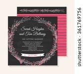 wedding invitation cards... | Shutterstock .eps vector #361769756