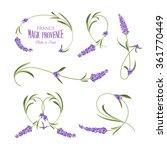 set of lavender flowers elements | Shutterstock .eps vector #361770449