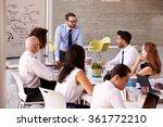 caucasian businessman leading... | Shutterstock . vector #361772210