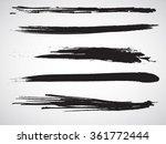 set of grunge brush strokes | Shutterstock .eps vector #361772444